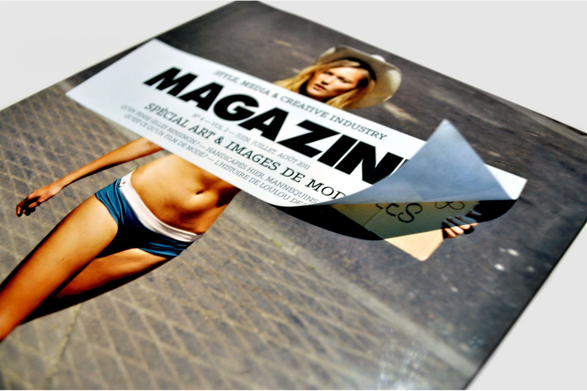 logo and magazine design